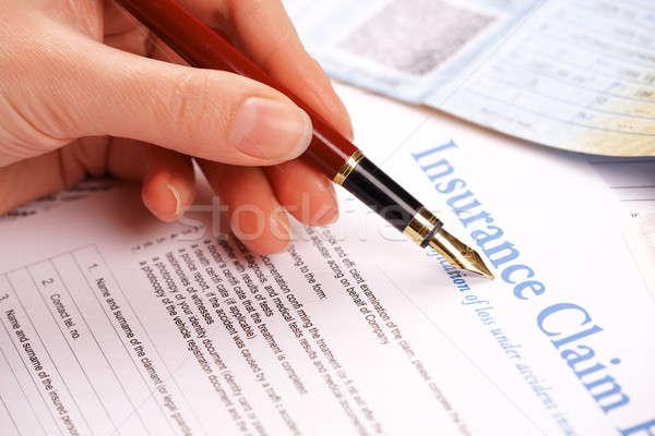 Seguro reivindicar forma outro documentos como Foto stock © Amaviael