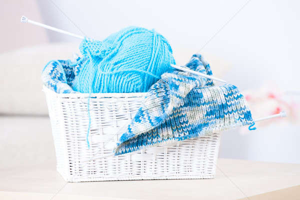 裁縫 バスケット ボール 糸 ストックフォト © Amaviael