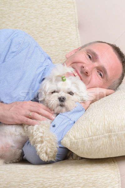 Dog and owner Stock photo © Amaviael