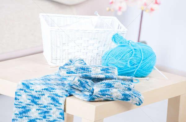 Foto stock: Costura · pelota · hilados · aguja