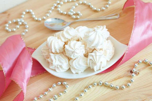 Biały tablicy serwowane elegancki stylu żywności Zdjęcia stock © Amaviael
