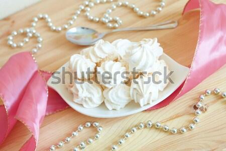 Blanco placa servido elegante estilo alimentos Foto stock © Amaviael