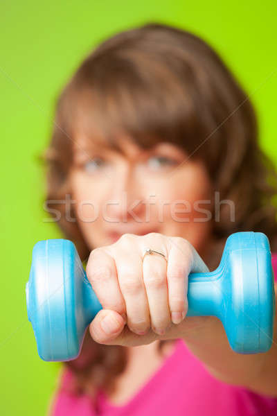 Mulher jovem mulher exercer mudo sino Foto stock © Amaviael
