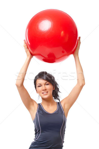 Mujer gimnasio pelota hermosa Foto stock © Amaviael