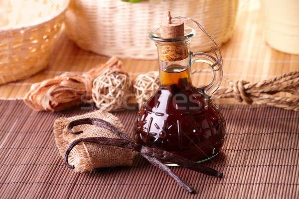 Vanilla extract and beans Stock photo © Amaviael