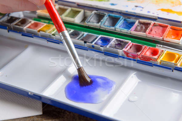 Stock photo: Watercolor