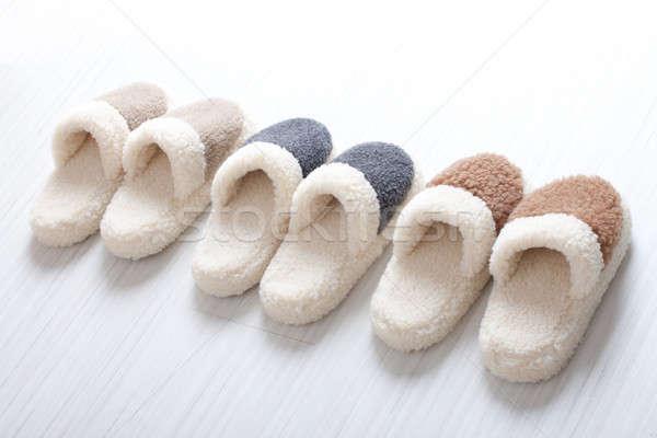 Natural woollen slippers Stock photo © Amaviael