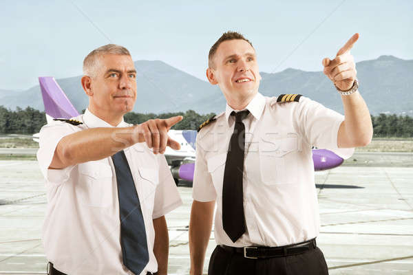 Airline pilots  Stock photo © Amaviael