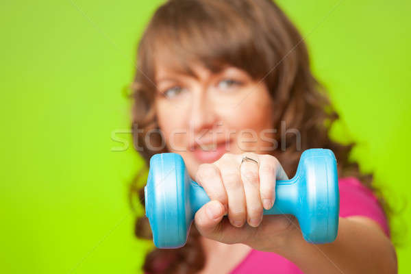 Woman with dumbbell Stock photo © Amaviael