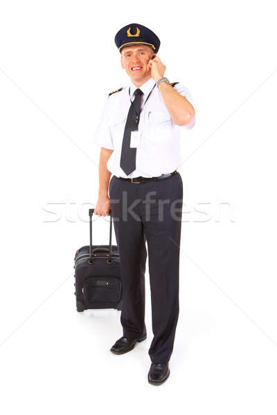 Airline pilot with trolley Stock photo © Amaviael