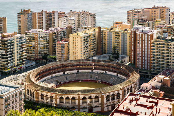 View of bullring, located in the heart of the Malaga city. Spain Stock photo © amok