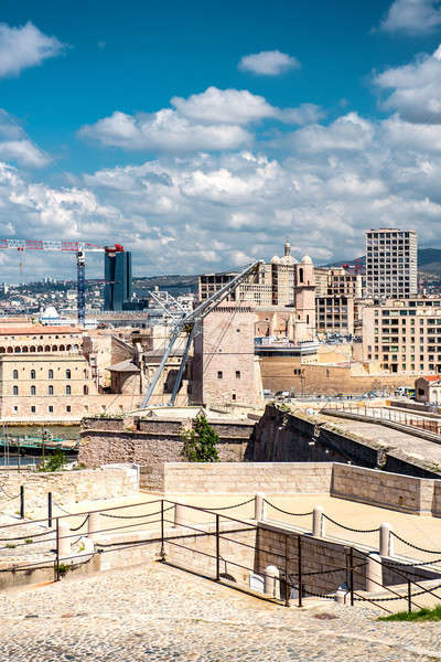 View of Fort Saint Nicholas in Marseille, France Stock photo © amok