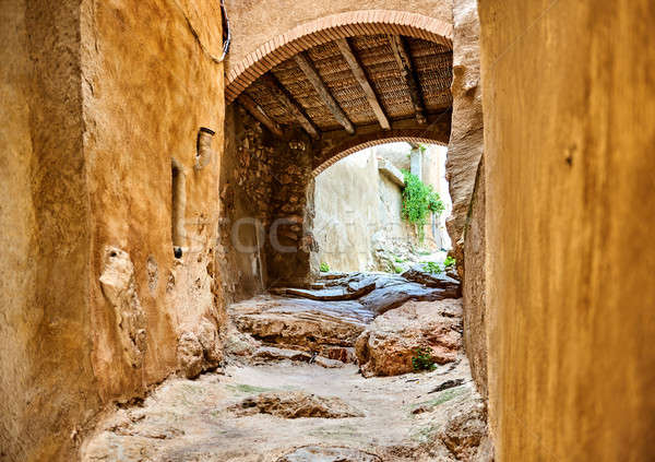 Archway in old town of Miravet Spain Stock photo © amok