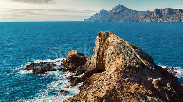 Rocky coast of Portman. Located between La Manga Club and Cartag Stock photo © amok
