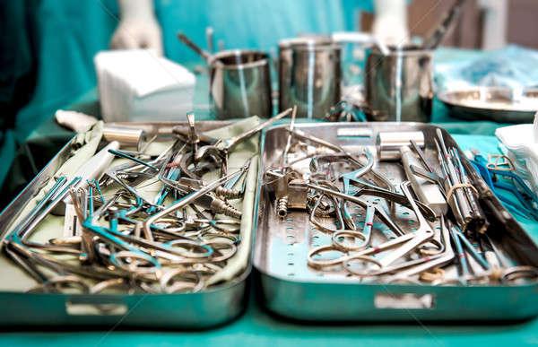 Surgical tools closeup Stock photo © amok