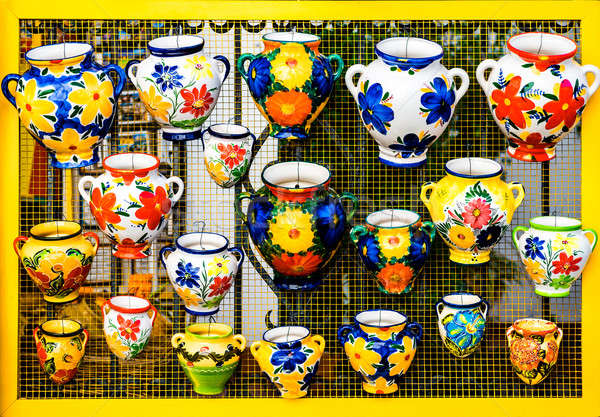 Colorful ceramic pots Stock photo © amok
