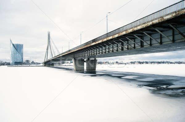 橋 川 リガ ラトビア 建物 市 ストックフォト © amok
