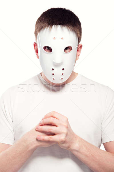 Man wearing hockey mask  Stock photo © amok