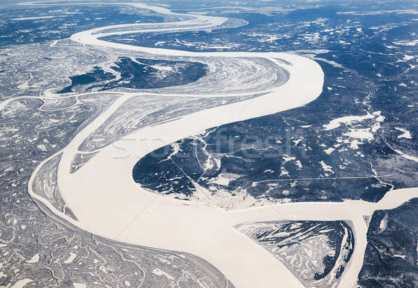 Siberian river. View from the top  Stock photo © amok