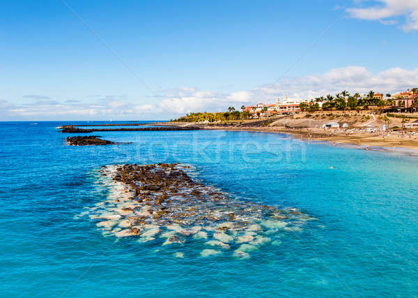 Picturesque El Duque beach in Costa Adeje. Tenerife. Canary islands Stock photo © amok