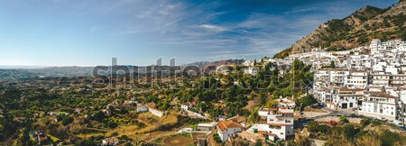 Stock photo: Panorama of white village of Mijas. Costa del Sol, Andalusia