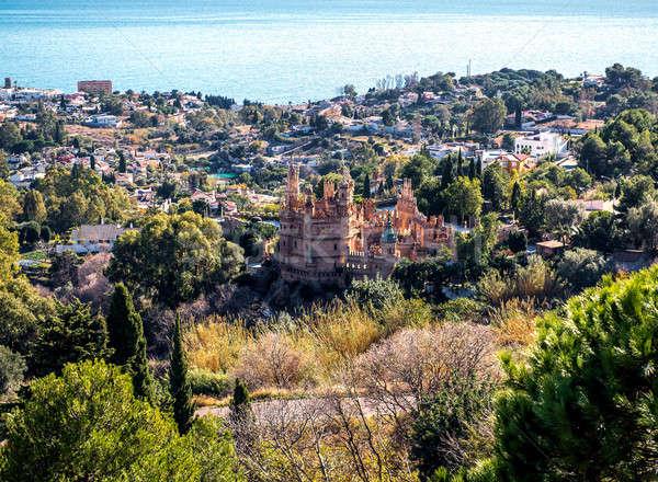 мнение города замок малага Испания город Сток-фото © amok