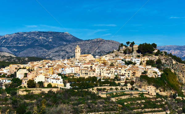 Picturesque spanish hillside village Polop de la Marina. Spain Stock photo © amok