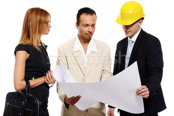 Married couple and architect Stock photo © amok