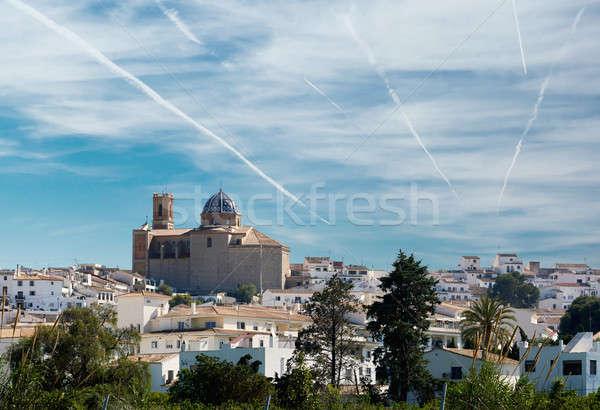 Townscape of Altea, Costa Blanca. Spain Stock photo © amok