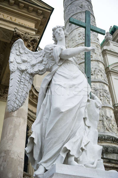 Angel statue  neat The St. Charles's Church (Karlskirche), Vienna Stock photo © amok