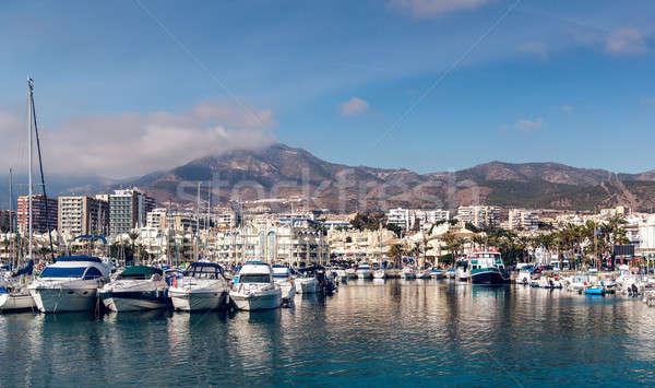 Jour vue marina Espagne bâtiment Voyage Photo stock © amok