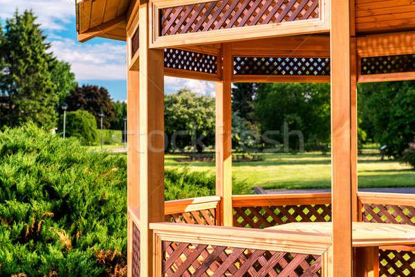 Freien Holz Sommer Landschaft Gras Natur Stock foto © amok