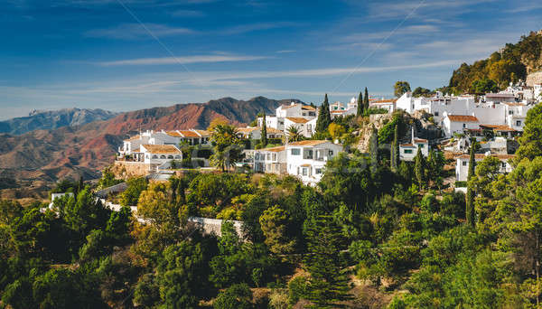 Charming little white village of Mijas Stock photo © amok