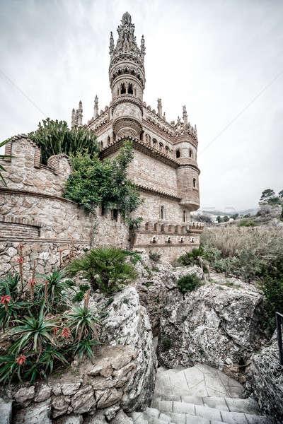Part of Colomares Castle. Benalmadena town. Spain Stock photo © amok
