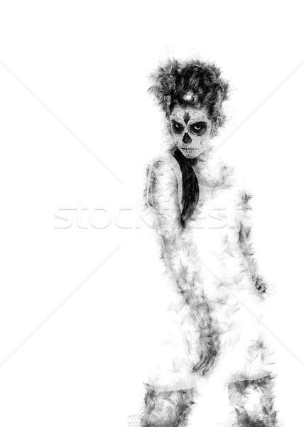 Day of the dead girl. Digitally generated image Stock photo © amok
