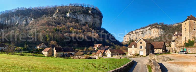 Falu panoráma részleg bizalmas egy gyönyörű Stock fotó © amok