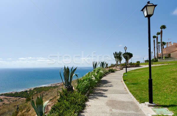 Footpath along the Mediterranean Sea. Gran Alacant, Costa Blanca Stock photo © amok