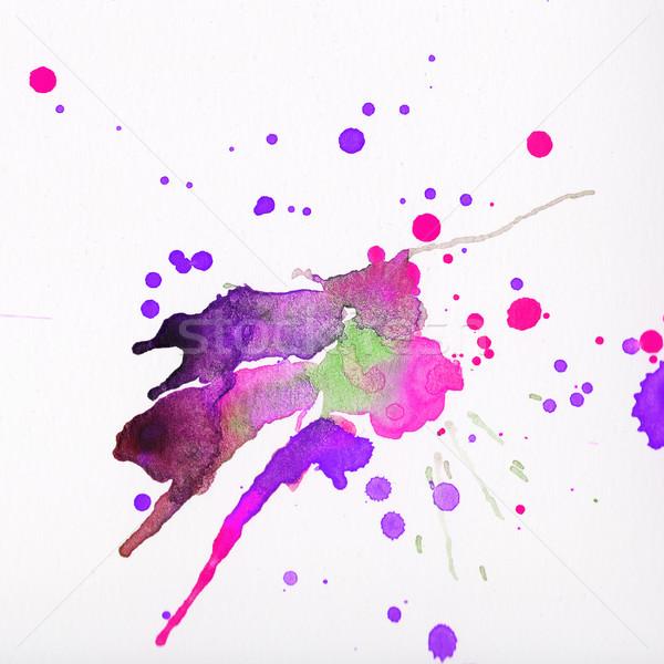 красочный акварель белый розовый фиолетовый Сток-фото © amok