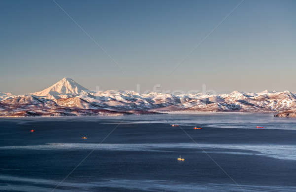 Beautiful view of Viliuchinsky Volcano, Krasheninnikova Bay Stock photo © amok