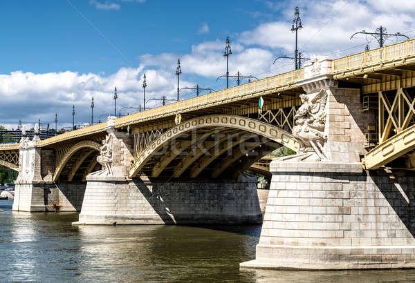 Margaret Bridge across the Danube river. Budapest, Hungary Stock photo © amok