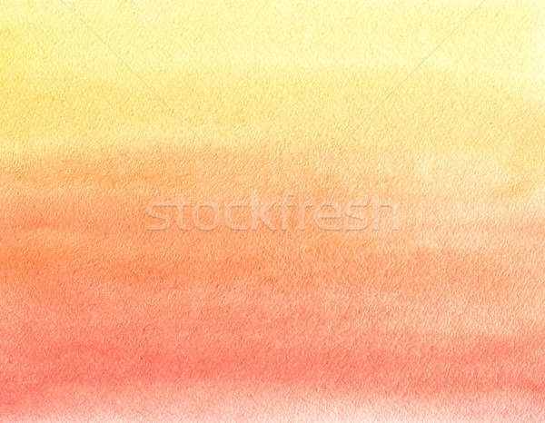 Watercolor painting. Yellow, orange and red gradient  Stock photo © amok