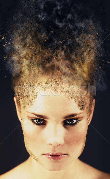 Portrait of a beautiful young woman. Digitally generated image  Stock photo © amok