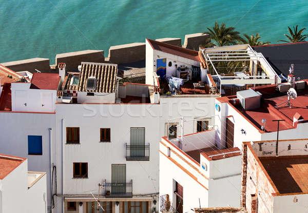 屋根 市 スペイン アーキテクチャ 住宅 休暇 ストックフォト © amok