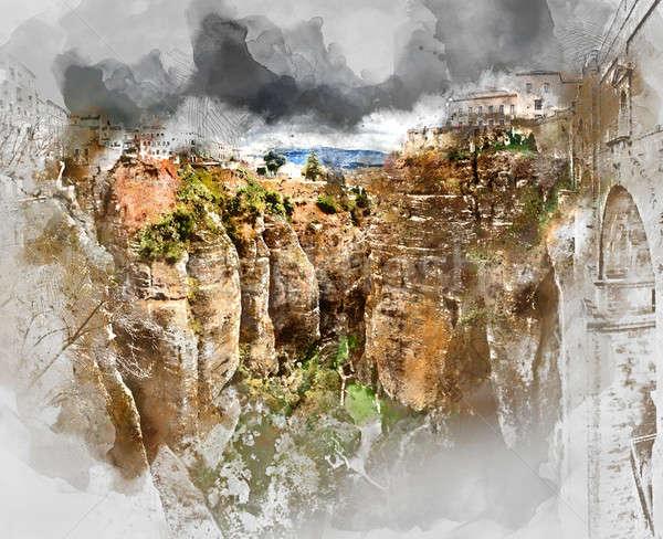 Ronda canyon Stock photo © amok