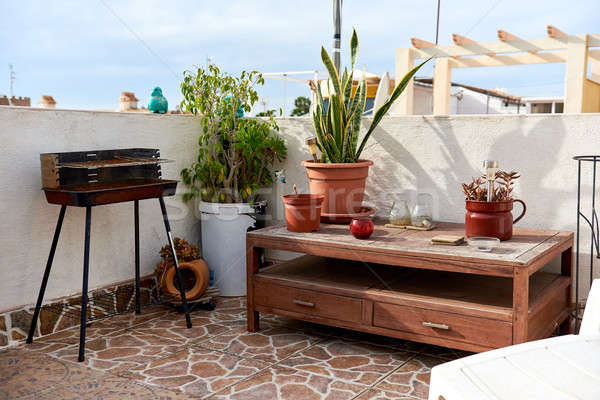 Nice estate terrazza barbecue home lounge Foto d'archivio © amok