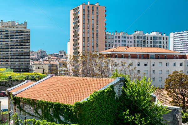 Tipikus házak Marseille második város Franciaország Stock fotó © amok