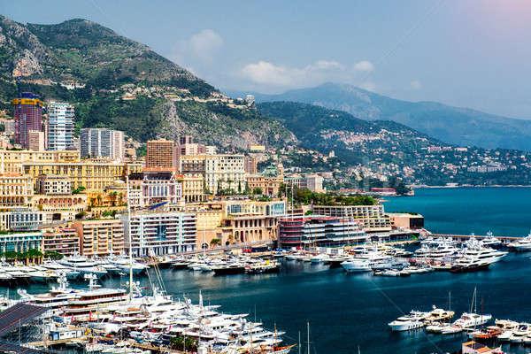 Cityscape port Monaco ville nature mer Photo stock © amok