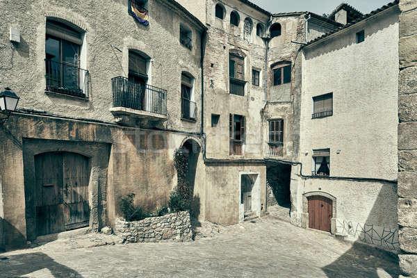 Ancient houses of Miravet village. Spain Stock photo © amok