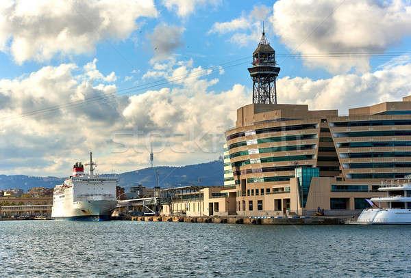 Barcelona Espanha ver mar porta Foto stock © amok