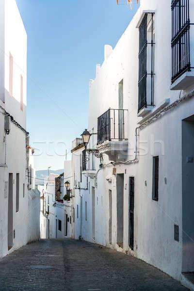 Narrow street of Vejer de la Frontera. Costa de la Luz, Spain Stock photo © amok